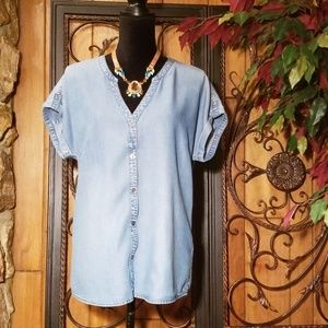 Lucky Brand (Denim Color) Blouse